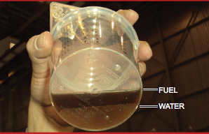 Fuel & Water Mix in Aviation Fuel